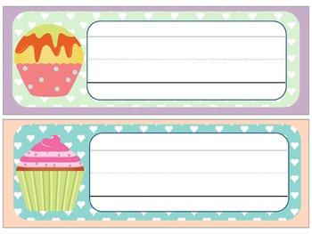Name Plates : Soft Cupcakes