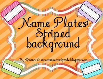 Name Plates---Striped Background