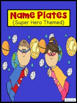 Name Plates {Super Hero Themed}