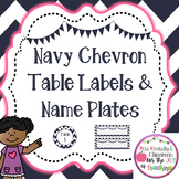 Name Plates & Table Labels- Chevron Classroom Decor