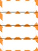 Name Plates, Table Numbers & Number Tags (Editable Orange Chevron Theme)