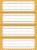 Name Plates, Table Numbers & Number Tags (Editable Orange Polka Dot Theme)