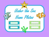 Name Plates - Under the Sea