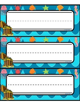 Name Plates {Under the Sea Themed}