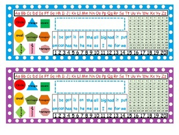 Name Plates With Polka Dots: