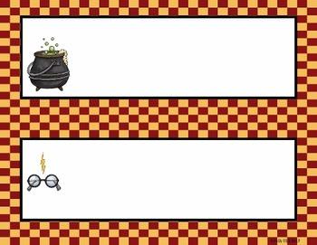 Name Plates:  Wizard Theme Set 1 (EDITABLE)