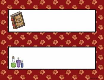 Name Plates:  Wizard Theme Set 2 (EDITABLE!)