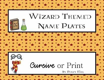 Name Plates:  Wizard Theme Set 3 (EDITABLE!)