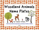 Name Plates -- Woodland Animals