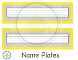 Name Plates Yellow Grey Theme