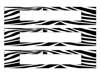 Name Plates - Zebra
