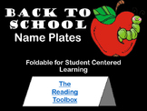 Name Plates and All About Me Foldable for Back to School