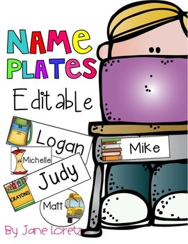 Name Plates (editable)