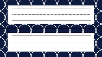 Name Plates (Navy & Lime)