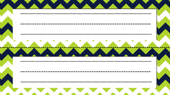 Name Plates (Navy & Lime)