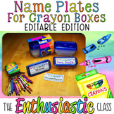 Name Plates for Crayon Boxes: Editable Edition