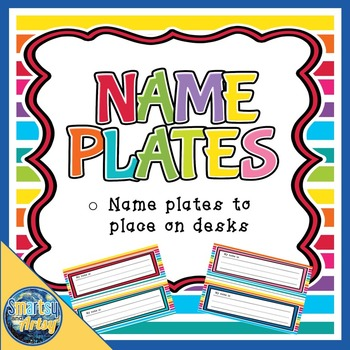 Name Plates for Desks Bold and Bright Theme