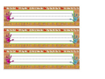 Name Plates for Kindergarten, 1st, Pre-K, Young 5's