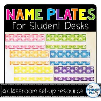 Name Plates for Student Desks