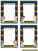 Name Plates for Student Work ~ Chevron Rainbow Print with