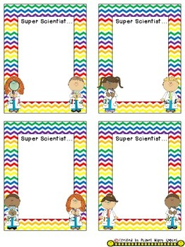 Name Plates for Student Work ~ Chevron Rainbow Print with white background