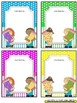 Name Plates for Student Work (EDITABLE) ~ Bright Polka Dots & Stripes