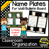 Name Plates for Student Work ~ Polka Dot B/W Print
