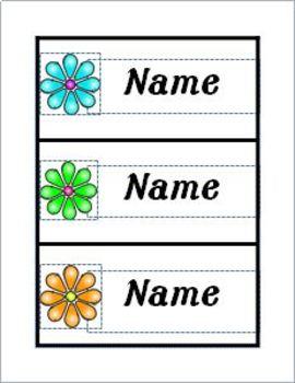 Name Plates for desks from Meet The Teacher Themed Packet