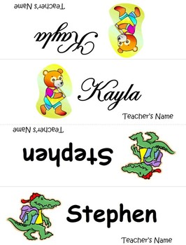 Name Plates for first day - Editable template