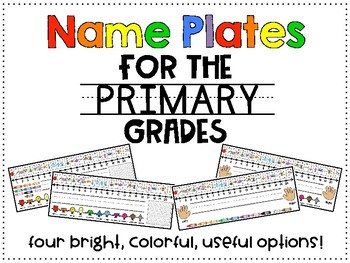 Name Plates for the Primary Grades