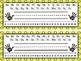 Name Plates in 8 Polka Dot Photocopied Colors