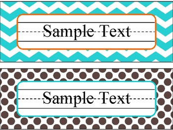 Name Plates in Candy Colors Theme