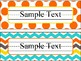 Name Plates in Candy Colors Theme - Editable