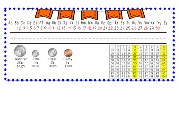 Name Plates- royal blue with orange bunting
