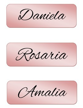 Classroom Desk Name Plates with Spanish Female Names_Cursive