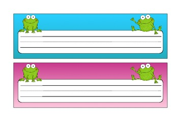Name Plates with Frogs