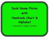 Name Plates with Hundreds Chart