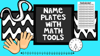 Name Plates with Math Tools