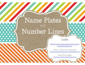 Name Plates with Number Lines