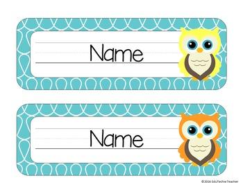 Name Plates {Owl Theme}