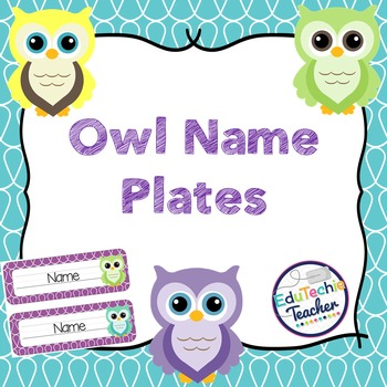 Name Plates {Owl Theme}