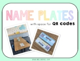 Name Plates with QR Code space