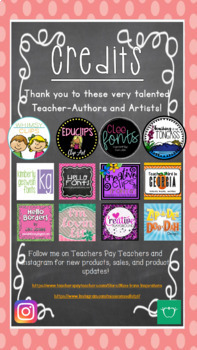 Editable Name Plates with References for Grades 1 and 2