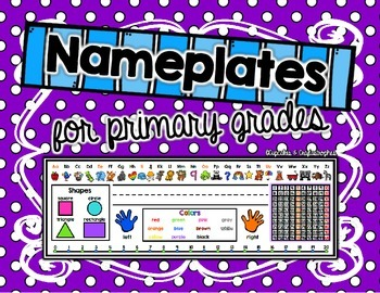 {{Name Plates/Desktop Helpers}} for Primary Students!