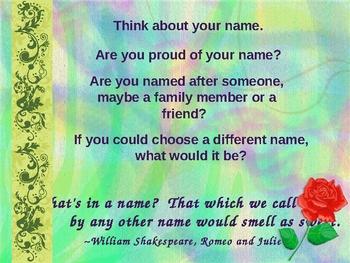 Name Poem Powerpoint