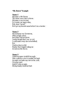 Name Poem Scaffolding