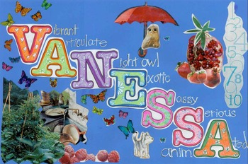 Name Poem or Acrostic Collage