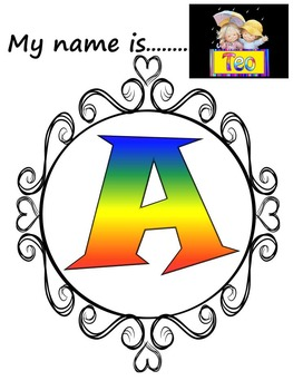 Name Posters - Alphabet - First Week of School - Back to School Activity