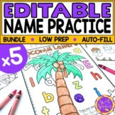 Editable Name Practice | Name Recognition | Name Building