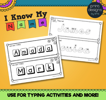 Student Name Print & Go Practice Activities - Know My Name